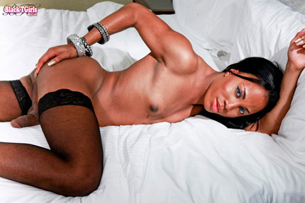 black curved shemale cock