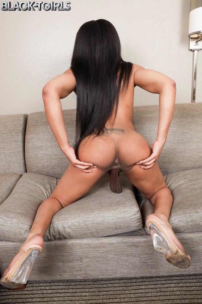 Sexy Peachez Black Tgirl Star